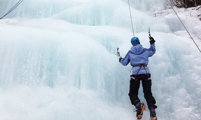 H2O Rappelling - Gravenhurst: All-Day, Instructional Ice-Climbing Experience for One or Two from H2O Rappelling (Up to 44% Off)