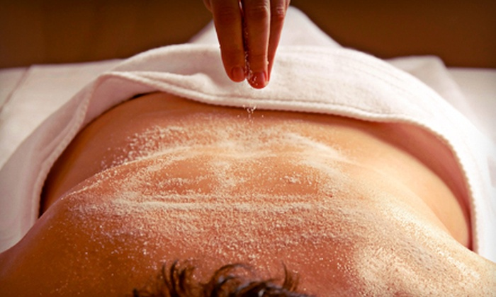 Bella Spa & Tanning - Waterloo: Spa Package with Body Scrub and Mediterranean or Anti-Cellulite Body Wrap at Bella Spa & Tanning (64% Off)