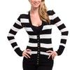 Long-Sleeved Striped Women's Cardigans