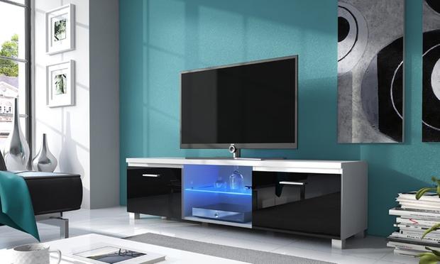 Meuble Tv 100 X 40 : Meuble TV avec éclairage LED, choix de Style et ...