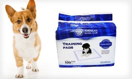 $19.99 for American Kennel Club Puppy Training Pads 100-Pack ($39.99 List Price). Free Shipping.