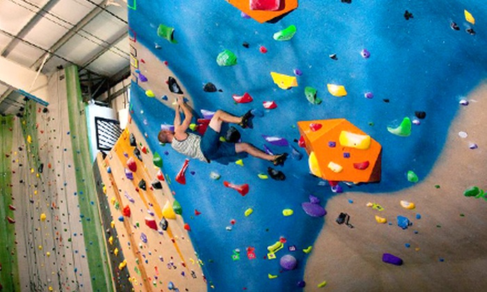 Central Rock Gym - Glastonbury: Belay Class and 1, 2, 5, or 10 Rock-Climbing Day Passes with Rental Gear at Central Rock Gym (Up to 55% Off)