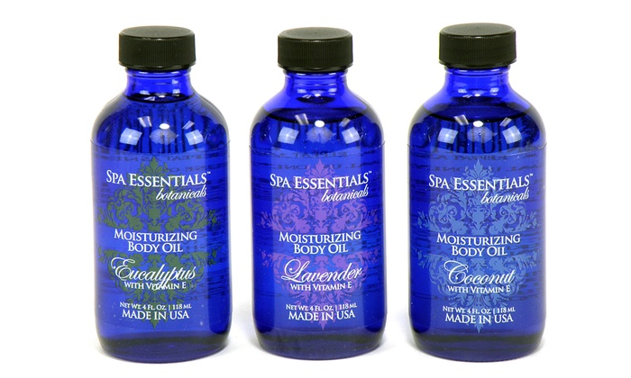 Spa Essentials Botanicals Moisturizing Body Oils