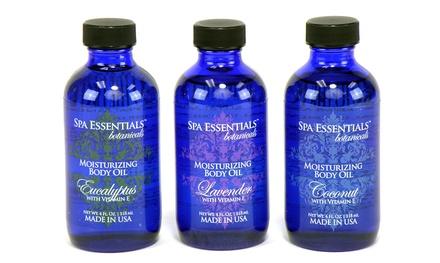 Spa Essentials Botanicals Moisturizing Body Oils in Lavender, Coconut, or Eucalyptus (4 Fl. Oz.)