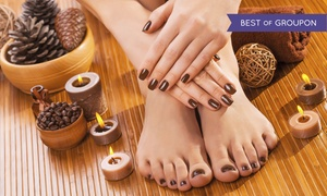 Serendipity Salon Spa & Fitness: One or Two Basic Mani-Pedis at Serendipity Salon Spa & Fitness (Up to 52% Off)
