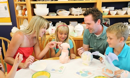 Studio Fees and Ceramics for Two or Four at Color Me Mine (Up to 52% Off)