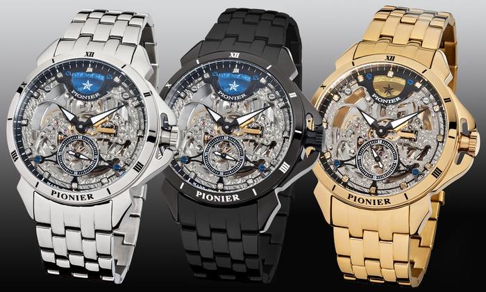 Verbazingwekkend PIONIER horloge met 12 diamanten | Groupon Goods GK-85