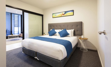 Melbourne: 1 or 2 Nights for Four with Late CheckOut and Parking at 4* Artel Apartment Hotel Brunswick
