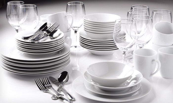 80-Piece Dinnerware Set: $152.99 for a 10 Strawberry Street 80-Piece White Dinnerware Set ($250 List Price). Free Shipping and Returns.