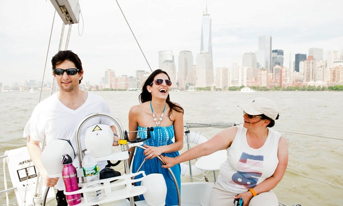 Sailors NYC - Pier 25, until July 1: Basic Annual Membership with NYS Safe Boating Course and Sailing at Sailors NYC in Manhattan (Up to 40% Off)