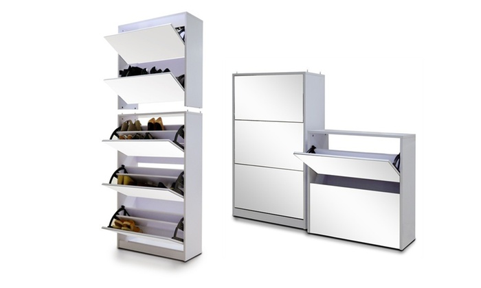 Groupon Goods: Five-Level Stackable Mirrored Shoe Cabinet for R1 999 Including Delivery (50% Off)