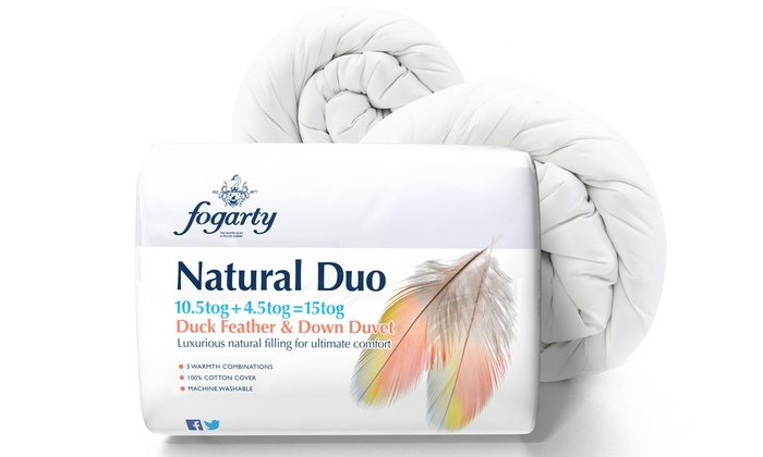 Groupon Goods Global Gmbh Fogarty Duck Feather And Down Duvet 15 0 Tog