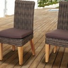 Singapore Teak and Wicker Chair Set with Cushions (2-Piece)