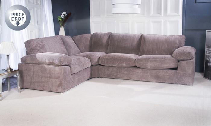 Oregon Fabric Corner Sofa Groupon Goods