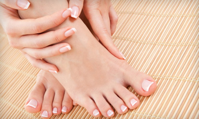 A Froma Nail Spa - Nob Hill: One or Two Mani-Pedis with a Hot-Stone Massage and Paraffin Dip at A Froma Nail Spa (Up to 54% Off)