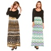 Women's Long Sleeve Printed Maxi Dresses