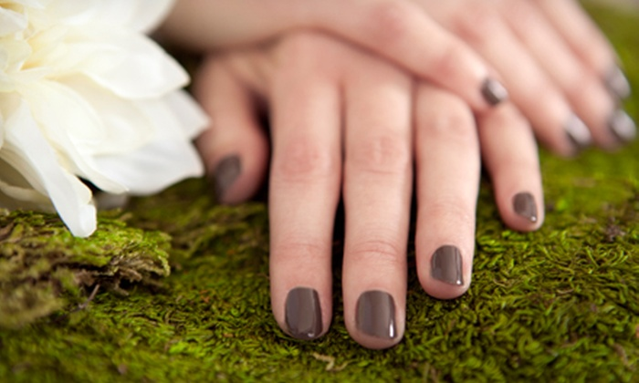 Pink Lime Salon & Spa - Downtown: $39 for a Mini Shellac Manicure and a Mini Pedicure at Pink Lime Salon & Spa ($149 Value)