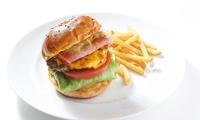 人気の2種から選べる絶品ハンバーガー≪ベーコンチーズバーガー or ベーコンエッグバーガー+1ドリンク≫ @SUNDAY