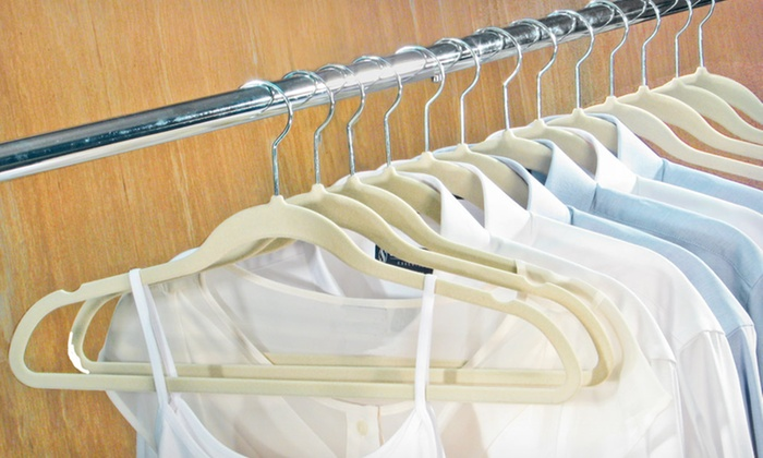 ... Closet Complete Ultrathin Velvet Hangers: $26.99 For 50 Closet Complete  Ultrathin Velvet Hangers ($34.99