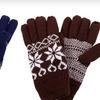 $12 for Men's Snowflake Knit Gloves