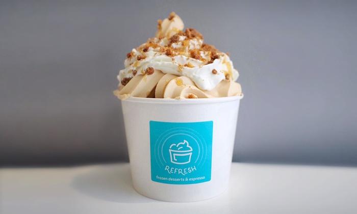 Refresh Frozen Desserts & Espresso - Refresh Frozen Desserts & Espresso: $12 for Four Groupons, Each Good for $5 Worth of Items at Refresh Frozen Desserts & Espresso ($20 Value)