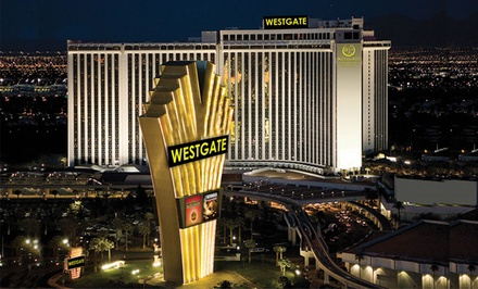 Groupon Deal: Stay with Bottle of Wine at Westgate Las Vegas Resort & Casino. Dates into April.