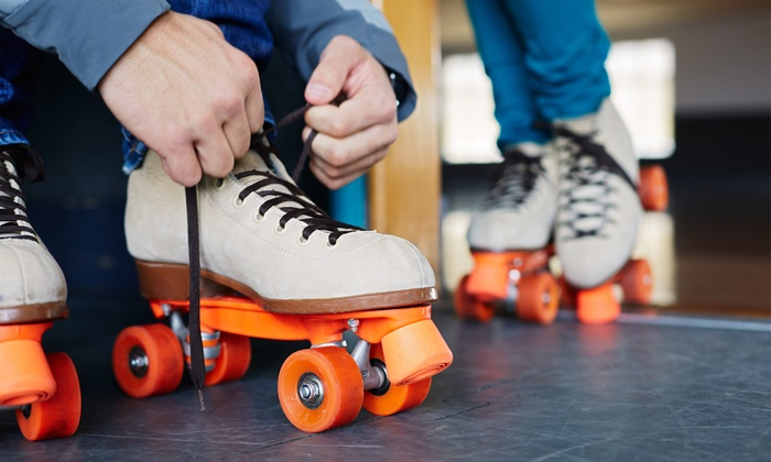 Sparkles Family Fun Centers - Multiple Locations: Skating for Two, Four, or Six with Skate Rental Plus Arcade Points at Sparkles Family Fun Centers (Up to 64%Off)