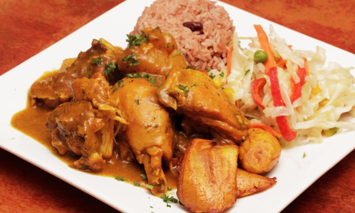Island Spice Jamaican Cuisine - Edgewood: Jamaican Food at Island Spice Jamaican Cuisine (Up to 46% Off). Three Options Available.
