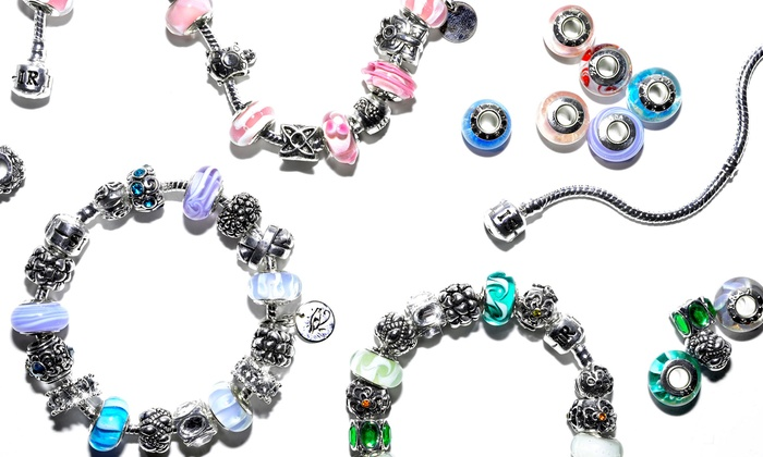 IRIS Beads & Charms: Custom Charm Bracelets from IRIS Beads & Charms (Up to 81% Off). Three Options Available.