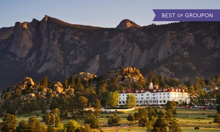 groupon daily deal - Stay with Dining Credit at The Stanley Hotel in Estes Park, CO. Dates into May.
