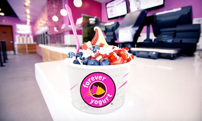 Forever Yogurt - Multiple Locations: $5 for $10 Worth of Self-Serve Frozen Yogurt at Forever Yogurt