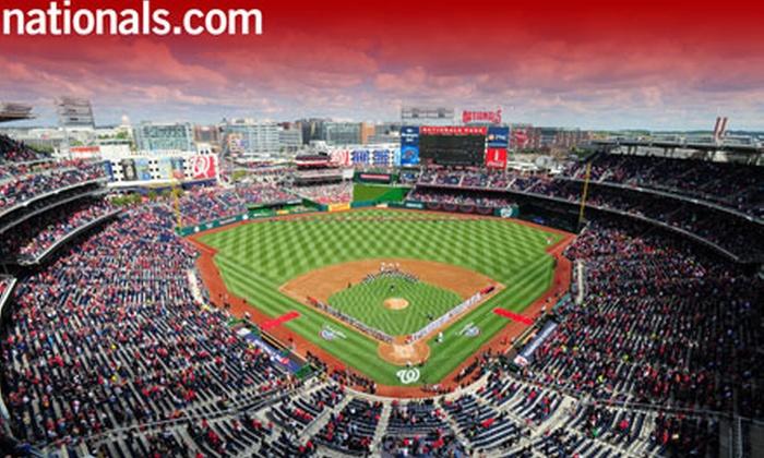 Washington Nationals - Nationals Park: Washington Nationals Baseball Game at Nationals Park (Up to Half Off). Five Games and Three Seating Options Available.