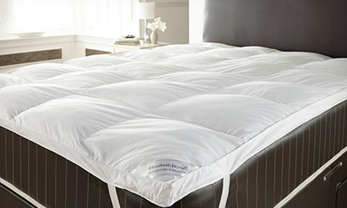 Groupon Goods Global GmbH: Goose Feather and Down Mattress Topper (from £21.98) Plus Pillows (from £32.99) With Free Delivery (Up to 69% Off)