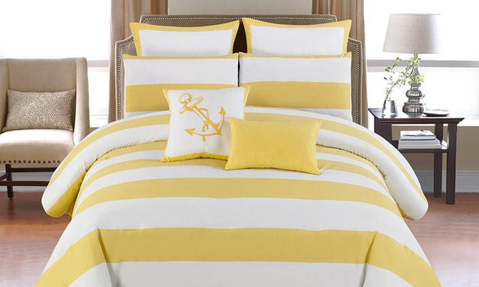 8 Piece Oversized Comforter Set Groupon Goods