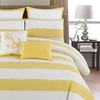 Delia Anchor Striped 8-Piece Oversized Comforter Set