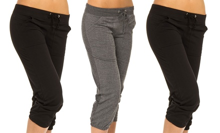 3-Pack of Women's French Terry Capris