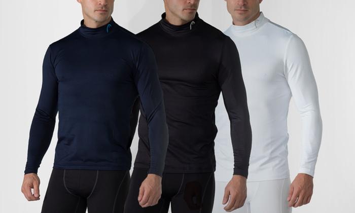 Head Men's Mock Neck Dri-Fit Shirts: Head Men's Mock Neck Dri-Fit Shirt. Multiple Colors Available. Free Shipping.