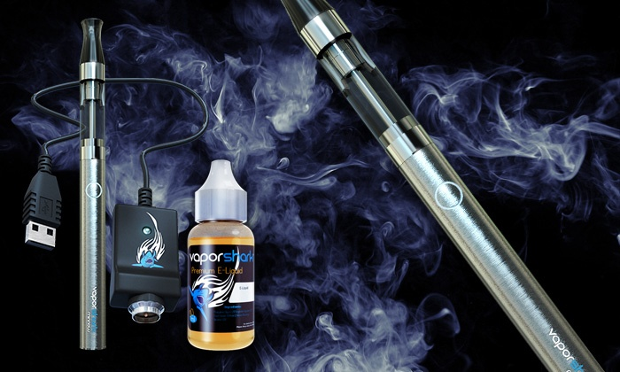 Vapor Shark: E-Cigarette Starter or High-Performance Kit from   Vapor Shark (Up to 60% Off)