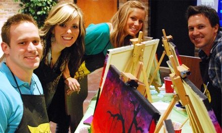 One 2.5-Hour Social Painting Class for One or Two at The Thirsty Brush (Up to 46% Off)