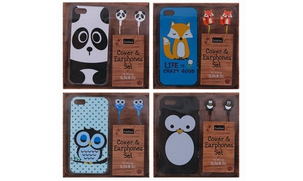 Pack de funda para iPhone y auriculares