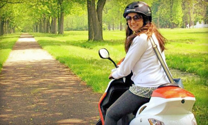 eSkoot Niagara - Niagara On The Lake: Three-Hour or Full-Day Electric-Scooter Rentals for Two on a Weekday or Weekend at eSkoot Niagara (Half Off)