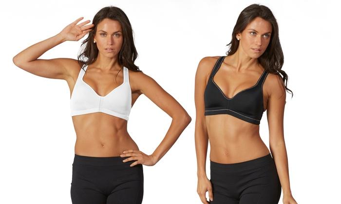 ac27ea4b453be Marika Tek Women s Moisture-Wicking Sports Bras (2-Pack  Size Medium ...