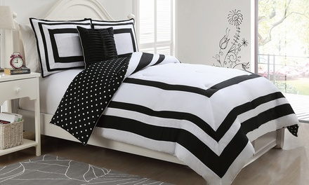 Polka-Dot Comforter Set | Groupon Goods