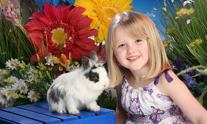 Yuen Lui Studio - Multiple Locations: $49 for an Easter-Bunny Photo Shoot with Print Package and Digital Image at Yuen Lui Studio ($485 Value)