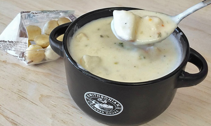 Smithsonian Cafe and Chowder House - Multiple Locations: $12 for Three Groupons for $7 Worth of Soups at Smithsonian Cafe and Chowder House ($21 Total Value)
