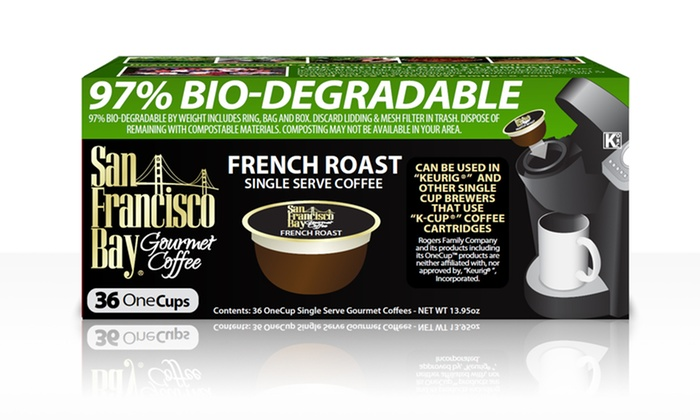 French Roast OneCup Single Serve Coffee by San Francisco Bay Coffee: French Roast OneCup Single Serve Coffee by San Francisco Bay Coffee (36 Count)