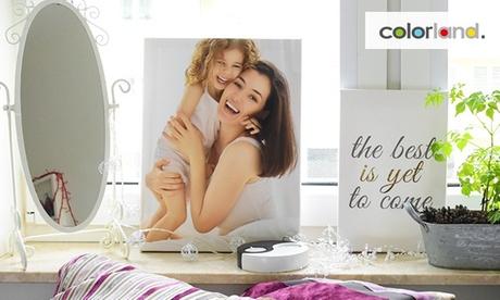 1 o 2 lienzos con foto personalizada en horizontal o vertical con Colorland (hasta 94% de descuento)