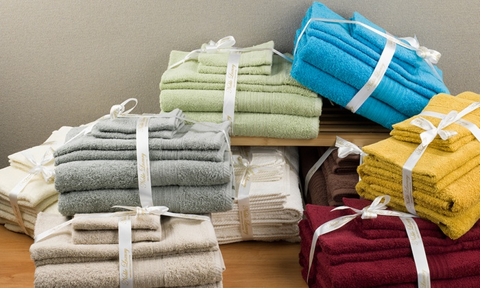 Luxurious 100% Egyptian Cotton Spa Collection 6-Piece Towel Set: Luxurious 100% Egyptian Cotton Spa Collection 6-Piece Towel Set. Multiple Colors Available. Free Returns.
