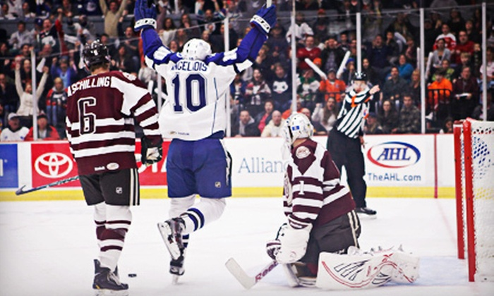 Syracuse Crunch - The Oncenter Crouse Hinds Theater: $25 for a Syracuse Crunch Hockey Game for Two at The War Memorial Arena (Up to $50.40 Value)