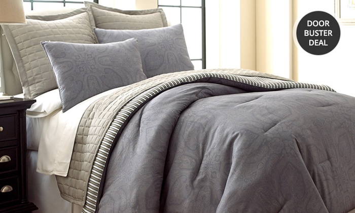 Six-Piece Reversible Comforter & Coverlet Set: Six-Piece Bedding Sets With Comforter and Coverlet. Multiple Options Available. Free Returns.